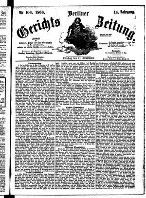 Berliner Gerichts-Zeitung on Sep 11, 1866