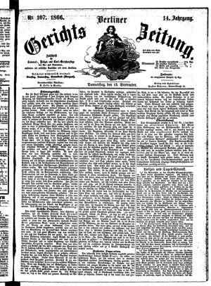 Berliner Gerichts-Zeitung vom 13.09.1866