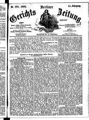 Berliner Gerichts-Zeitung vom 15.09.1866