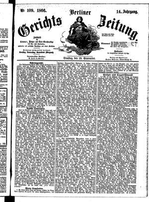 Berliner Gerichts-Zeitung on Sep 18, 1866