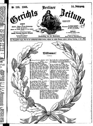 Berliner Gerichts-Zeitung vom 20.09.1866