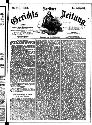 Berliner Gerichts-Zeitung vom 23.09.1866