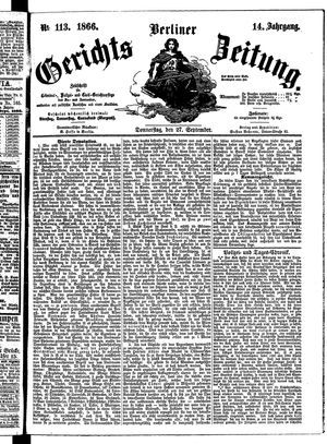 Berliner Gerichts-Zeitung on Sep 27, 1866