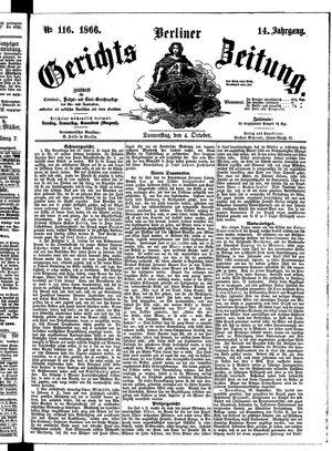 Berliner Gerichts-Zeitung vom 04.10.1866