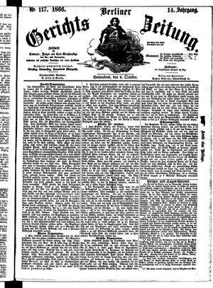 Berliner Gerichts-Zeitung vom 06.10.1866