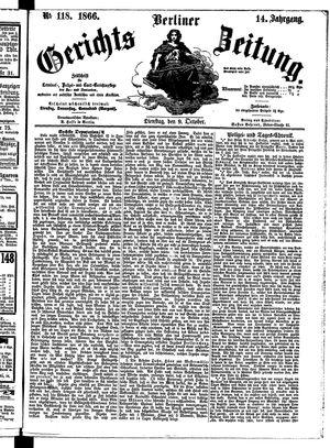 Berliner Gerichts-Zeitung vom 09.10.1866