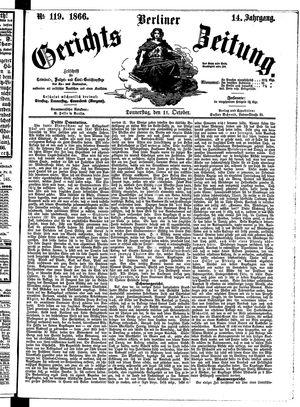Berliner Gerichts-Zeitung vom 11.10.1866