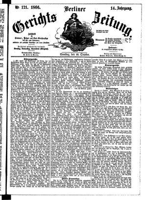 Berliner Gerichts-Zeitung vom 16.10.1866