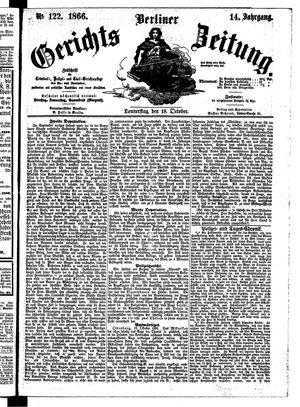 Berliner Gerichts-Zeitung vom 18.10.1866