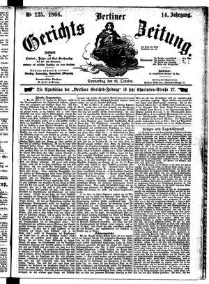 Berliner Gerichts-Zeitung vom 25.10.1866