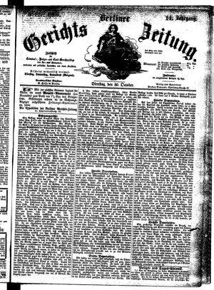 Berliner Gerichts-Zeitung vom 30.10.1866