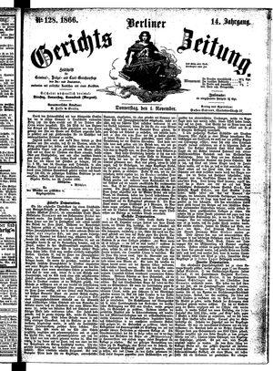 Berliner Gerichts-Zeitung vom 01.11.1866