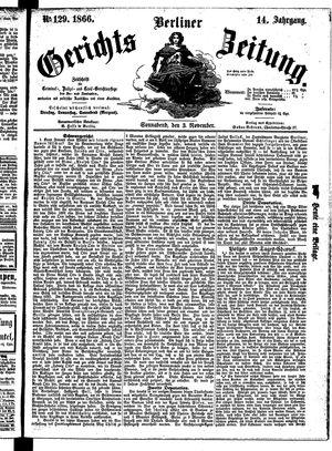 Berliner Gerichts-Zeitung vom 03.11.1866