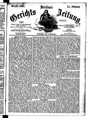 Berliner Gerichts-Zeitung vom 08.11.1866