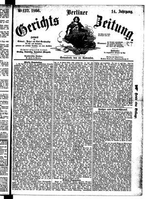 Berliner Gerichts-Zeitung vom 10.11.1866