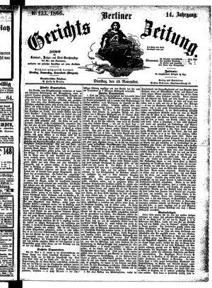 Berliner Gerichts-Zeitung vom 13.11.1866