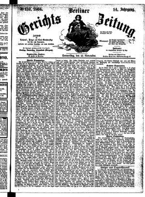 Berliner Gerichts-Zeitung vom 15.11.1866