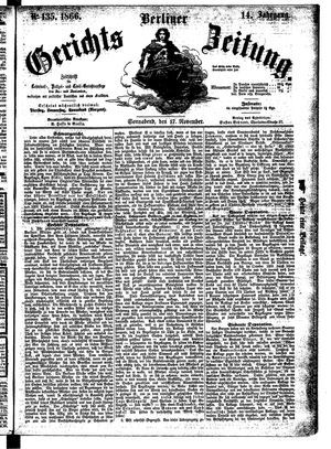 Berliner Gerichts-Zeitung on Nov 17, 1866