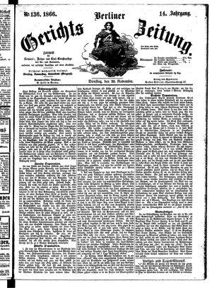 Berliner Gerichts-Zeitung vom 20.11.1866
