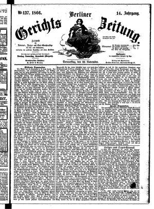 Berliner Gerichts-Zeitung vom 22.11.1866