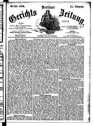 Berliner Gerichts-Zeitung on Nov 27, 1866