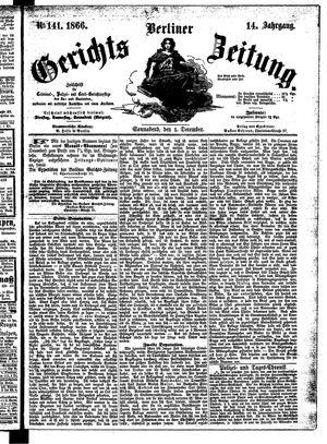 Berliner Gerichts-Zeitung vom 01.12.1866