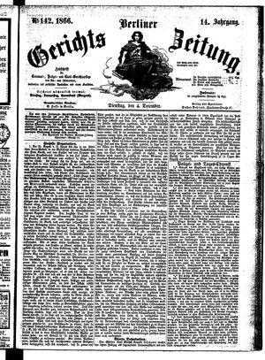 Berliner Gerichts-Zeitung vom 04.12.1866