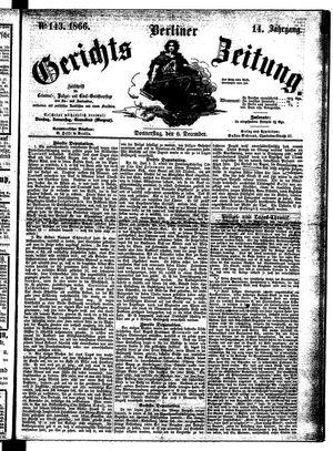 Berliner Gerichts-Zeitung vom 06.12.1866