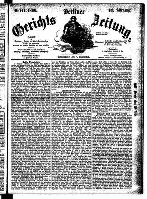Berliner Gerichts-Zeitung vom 08.12.1866