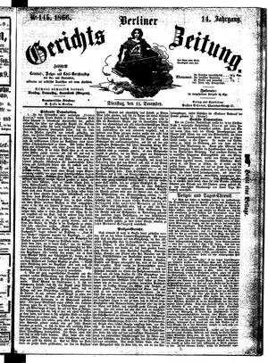 Berliner Gerichts-Zeitung vom 11.12.1866