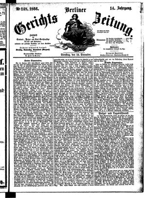 Berliner Gerichts-Zeitung vom 18.12.1866