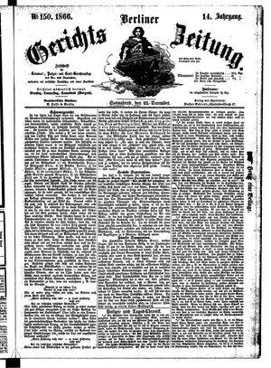 Berliner Gerichts-Zeitung vom 22.12.1866