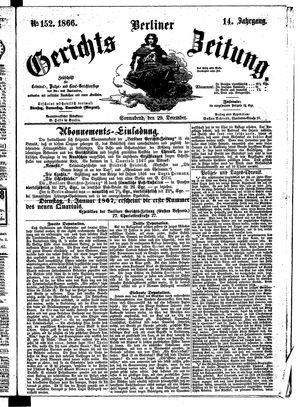 Berliner Gerichts-Zeitung vom 29.12.1866
