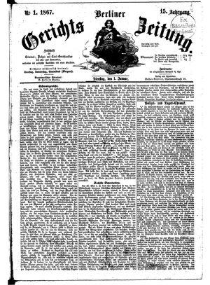 Berliner Gerichts-Zeitung vom 01.01.1867