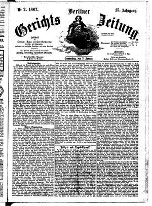 Berliner Gerichts-Zeitung vom 03.01.1867
