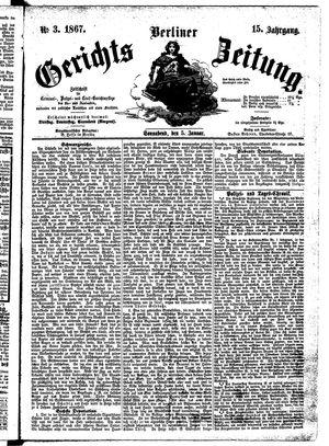 Berliner Gerichts-Zeitung vom 05.01.1867