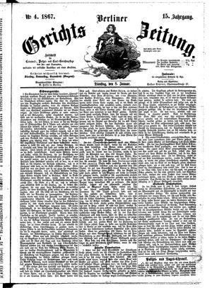 Berliner Gerichts-Zeitung vom 08.01.1867