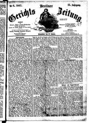 Berliner Gerichts-Zeitung vom 12.01.1867