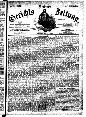 Berliner Gerichts-Zeitung vom 17.01.1867