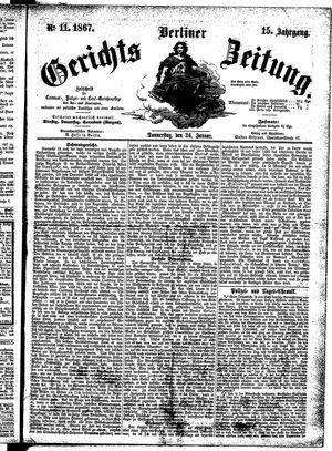 Berliner Gerichts-Zeitung vom 24.01.1867