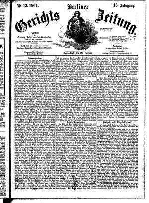 Berliner Gerichts-Zeitung on Jan 26, 1867