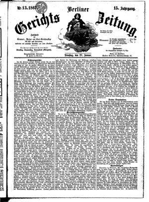 Berliner Gerichts-Zeitung vom 29.01.1867
