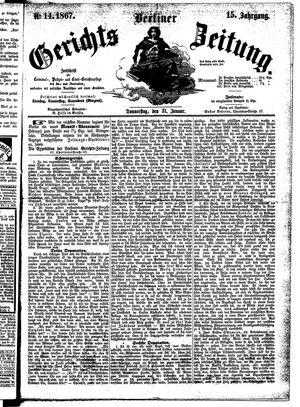 Berliner Gerichts-Zeitung vom 31.01.1867