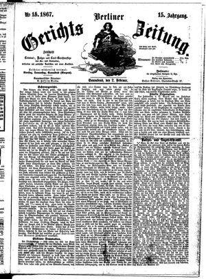 Berliner Gerichts-Zeitung vom 02.02.1867