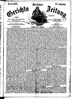 Berliner Gerichts-Zeitung on Feb 5, 1867