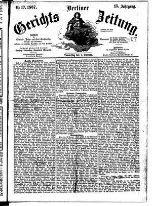 Berliner Gerichts-Zeitung vom 07.02.1867
