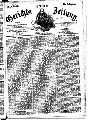 Berliner Gerichts-Zeitung vom 12.02.1867