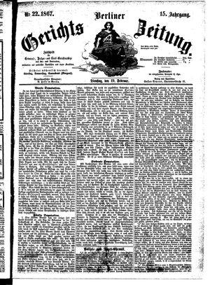 Berliner Gerichts-Zeitung vom 19.02.1867