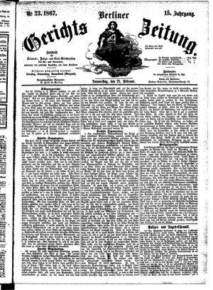 Berliner Gerichts-Zeitung vom 21.02.1867