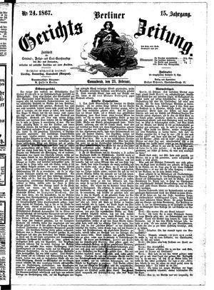 Berliner Gerichts-Zeitung on Feb 23, 1867